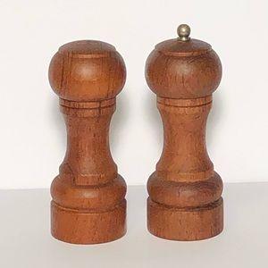 Vintage Goodwood Teak Salt & Pepper Shakers Set
